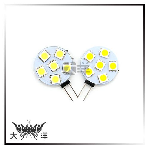 ◤大洋國際電子◢ G4-5050-6LED-23mm圓板燈DC12V(白/暖白) 吊燈 水晶燈 室內燈 1180D
