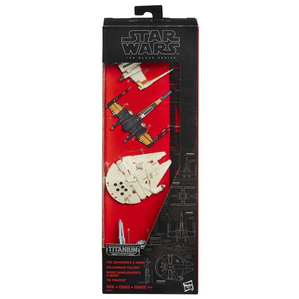 孩之寶流行玩具星際大戰電影7黑標合金交通工具禮盒組B3826