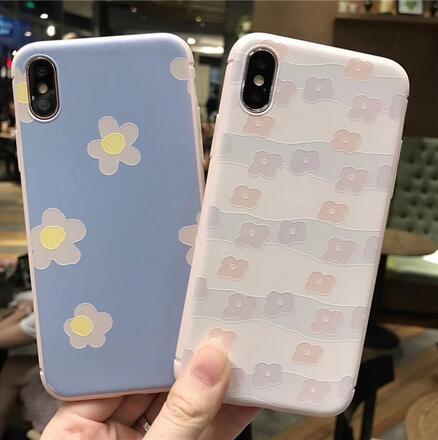 SZ35 iPhone X手機殼小清新花朵浮雕粉色系iPhone7 8 plus手機殼iPhone6s手機殼