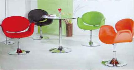 南洋風休閒傢俱設計單椅系列接洽椅造型椅花朵椅皮轉椅絨布轉椅512-9