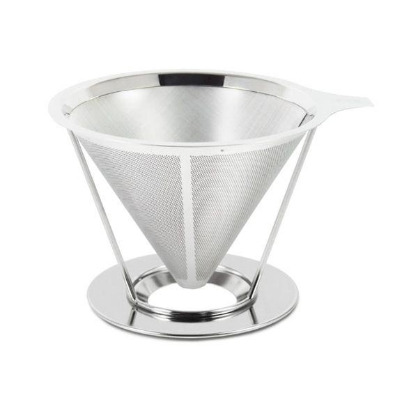 Driver不鏽鋼雙層極細濾網專用承架2~4cup環保濾杯免用咖啡濾紙可減少咖啡細末-大廚師百貨