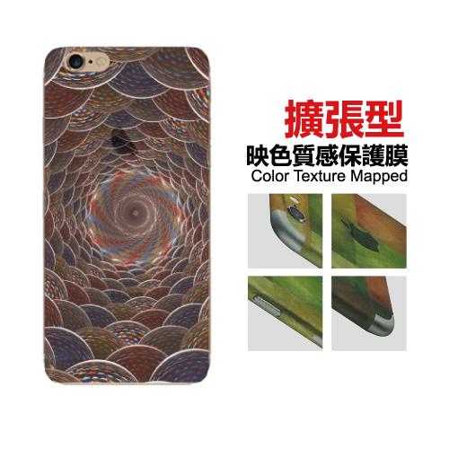 Apple iPhone 6/6S Plus 5.5吋 映色半透明質感 彩繪造型背膜 背貼 擴張型 保護貼-B15