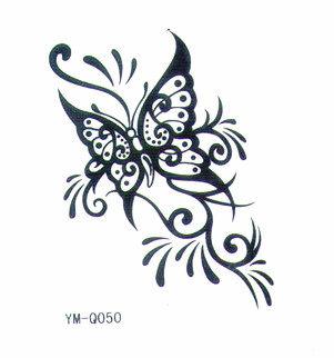 薇嘉雅 蝴蝶 流行時尚圖案紋身貼紙 Q050