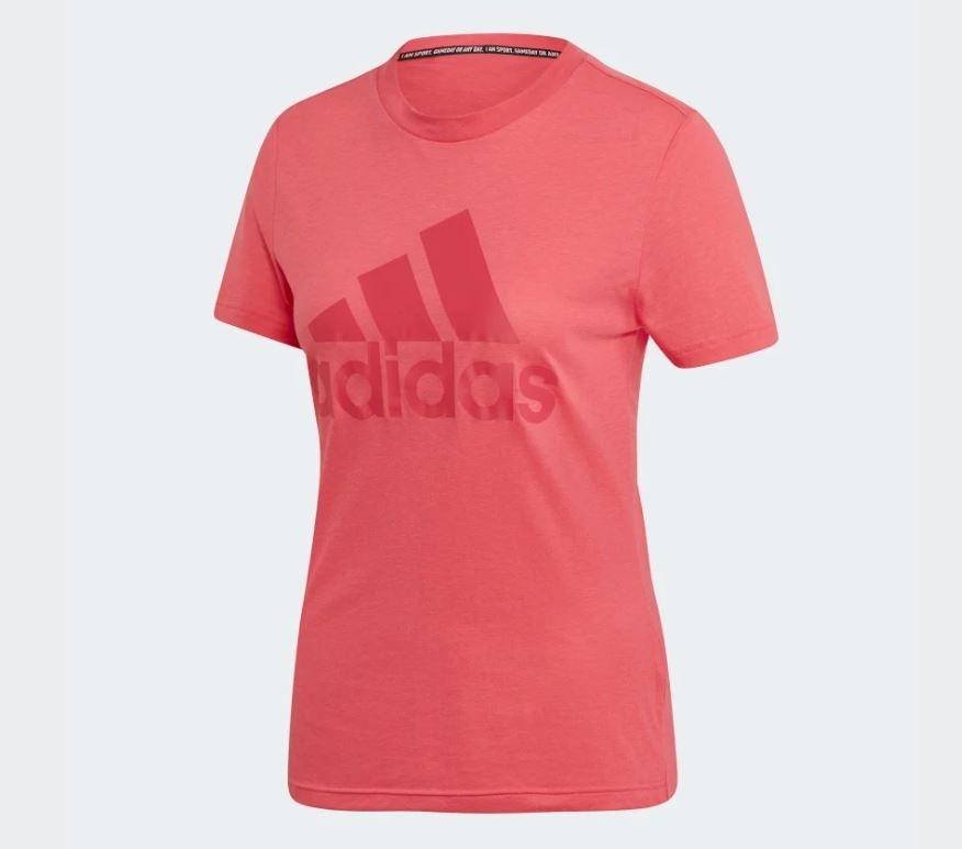 Adidas MUST HAVES BADGE OF SPORT TEE 女款粉色短袖上衣-NO.EB3788