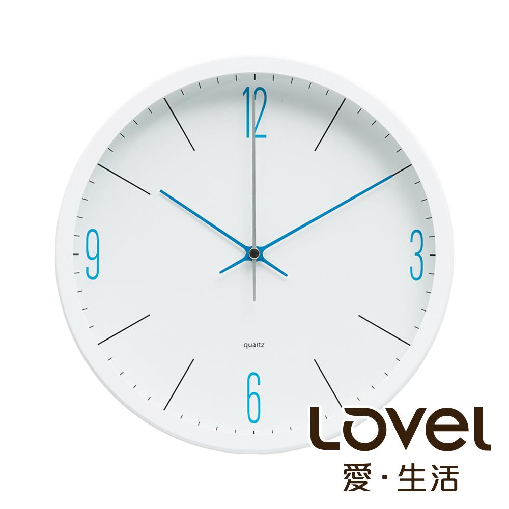 Lovel 25cm潔淨藍白膠框靜音時鐘- 共3款
