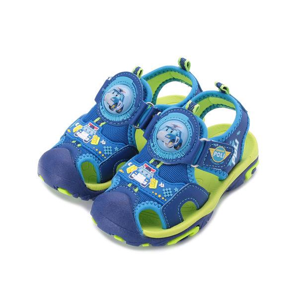POLI 波力輕量護趾電燈涼鞋 藍 POKT91106 中大童鞋 鞋全家福