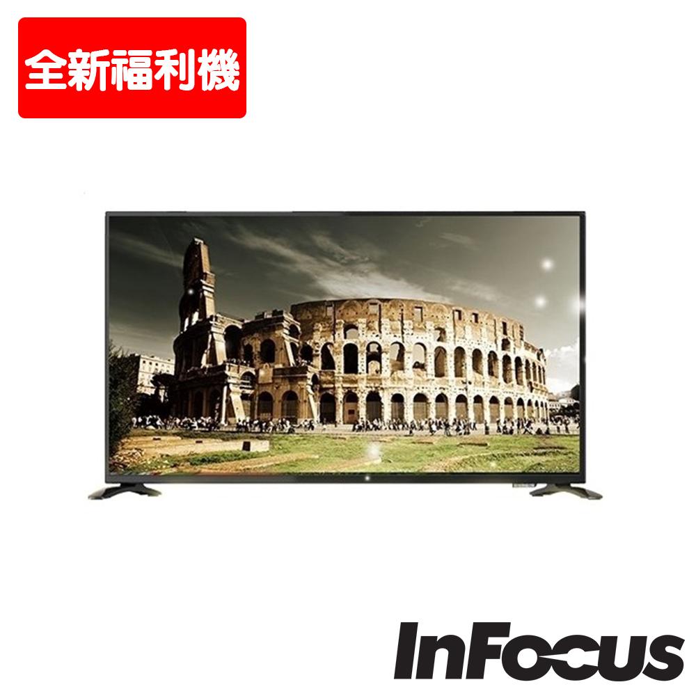 【全新福利機-限北北基配送安裝】鴻海 Infocus 50吋 4K 智慧連網液晶顯示器/電視-含視訊盒 XT-50IP600
