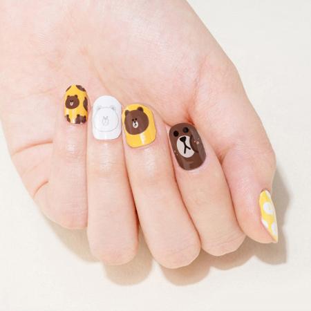 韓國MISSHA X LINE聯名款熊大兔兔美甲貼紙單張入指甲貼
