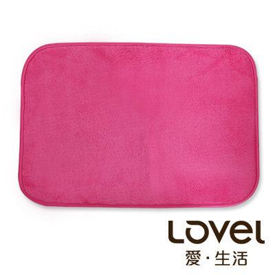 Lovel馬卡龍超細纖維止滑浴墊地墊桃果紅