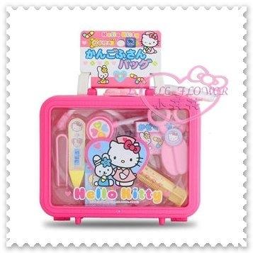 小花花日本精品Hello Kitty家家酒系列粉色醫生醫療醫護遊戲玩具收納箱玩具組50115709
