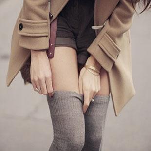 日系秋冬半截及膝襪棉襪顯瘦長筒襪套襪