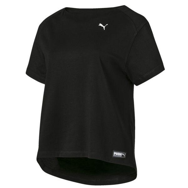 Puma 女 黑 短袖 運動 短版上衣 涼感 透氣 運動 休閒 慢跑 瑜珈 圓領上衣 短袖 84400901
