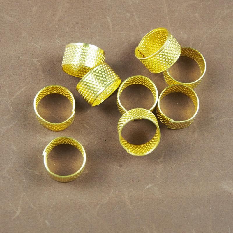 皮雕/縫紉材料工具 頂針箍 金屬銅頂針 防傷手 縫紉必備
