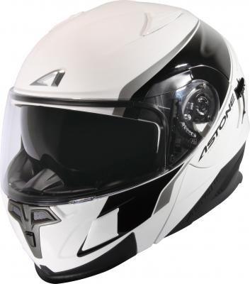 中壢安信法國ASTONE RT1000 AB2白黑全罩式可掀式安全帽可樂帽內置墨片下巴可掀