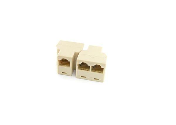 【3C生活家】RJ45網絡三通頭 網線連接器 網線1分2轉接頭 網絡三通頭 網絡工具全新高品質
