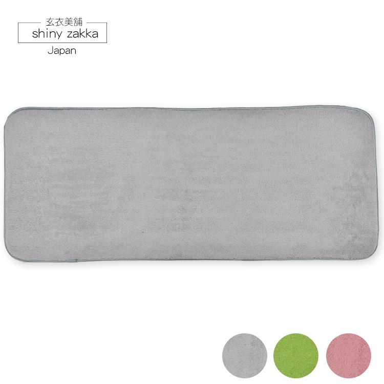 3M加長地墊(44*108)-超極細纖維吸水絨毛-止滑地墊-素面灰-玄衣美鋪