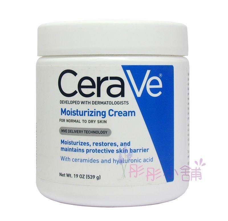 美國品牌 Cerave 玻尿酸潤澤保濕乳霜 19oz (539g) 加大容量 三重神經醯胺 【彤彤小舖】