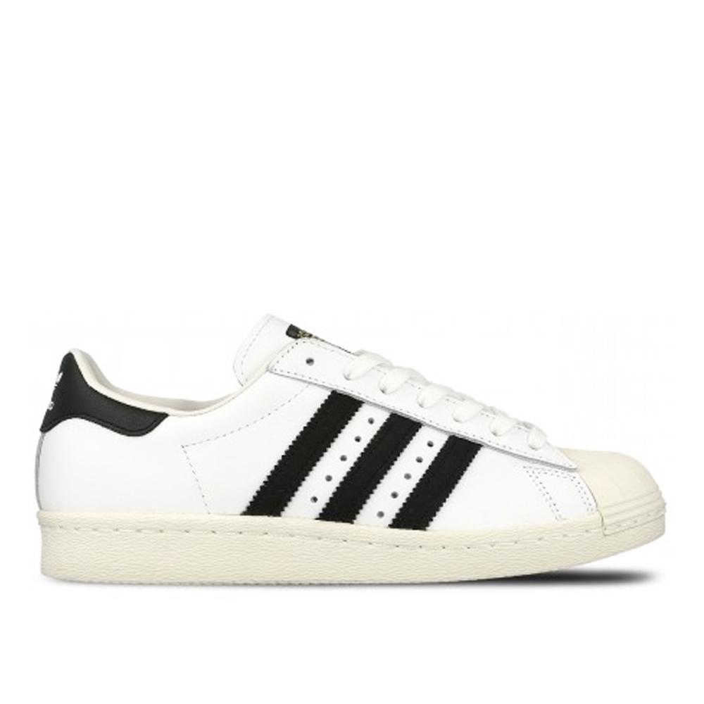 adidas休閒鞋Superstar 80S白黑奶油底皮革金標情侶男女鞋GT Company G61070