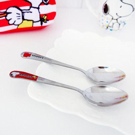 正版史努比 不鏽鋼湯匙 餐具 環保 無毒 Snoopy 史奴比