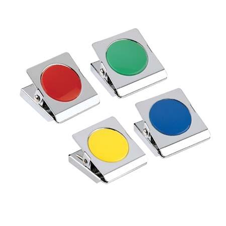 義大文具~COX MS-400 【圓型膠片】彩色磁夾 超強吸力磁鐵