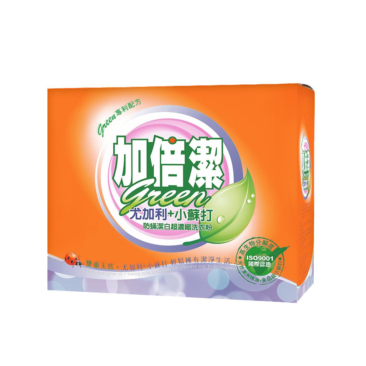加倍潔尤加利防蹣潔白洗衣粉1.5kg(盒)