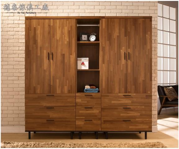 德泰傢俱工廠LOFT工業風lndustry歐克斯6.7尺200cm衣櫃衣櫥收納櫃置物櫃漢諾瓦