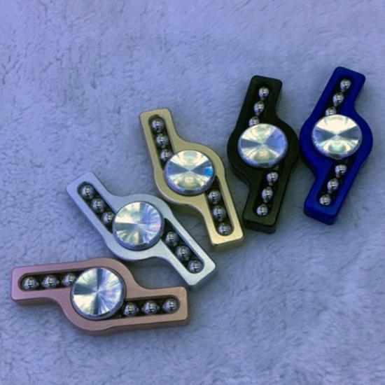MY COLOR鋁合金大閃電指尖陀螺大閃電6鋼珠鋁合金手指玩具抗煩躁P25-3