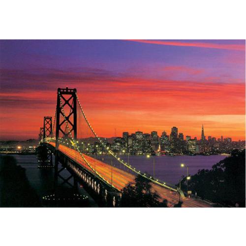 【P2 拼圖】舊金山金門大橋 夜光拼圖 1000片 HM1000-158