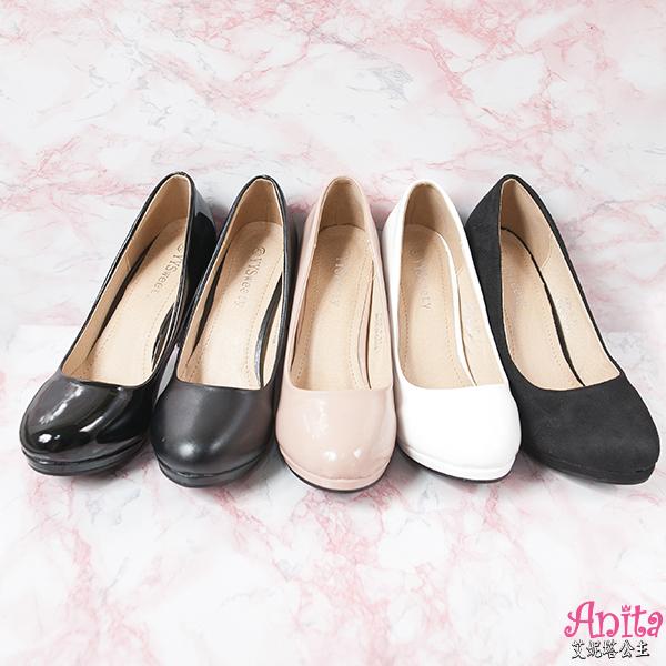 艾妮塔公主。中大尺碼女鞋。性感魅力漆皮高跟鞋 共4色。39-45碼 (A60-4)