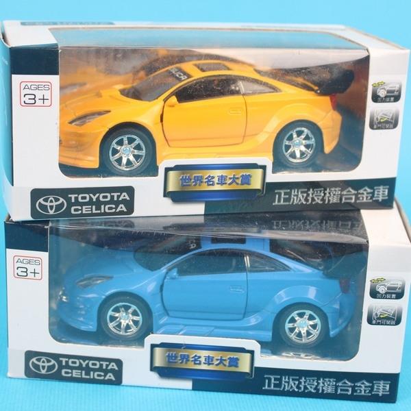 豐田 TOYOTA CELICA 合金車 (21號白盒)/一台入{促199} 1:38模型車 迴力車~生