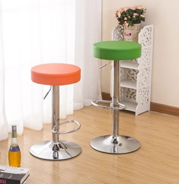 MY COLOR糖果色圓墊高腳椅升降式旋轉腳踏板把手酒吧餐廳台椅餐椅旋轉W16