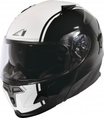 中壢安信法國ASTONE RT1000 AB4黑白全罩式可掀式安全帽可樂帽內置墨片下巴可掀