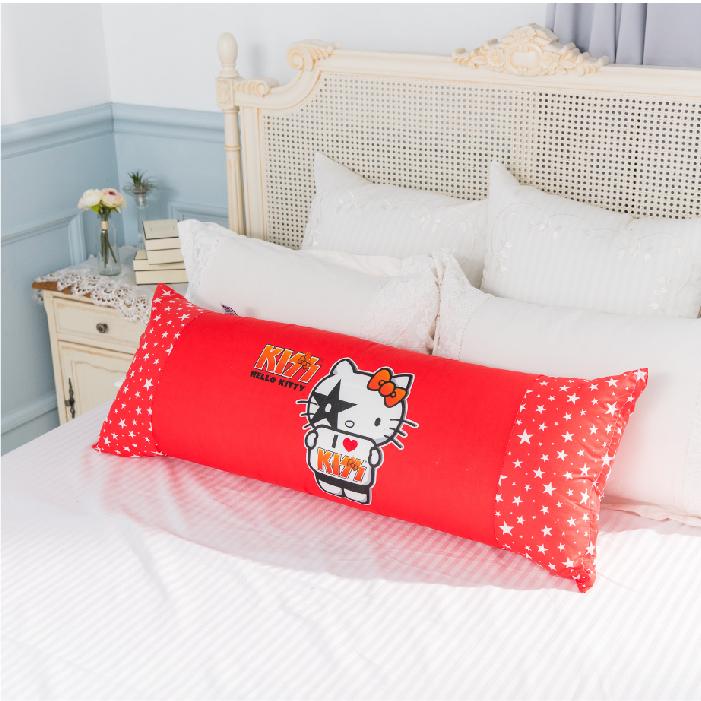 名流寢飾家居館我愛Hello Kitty抱枕長枕可墊腳或當枕頭全程臺灣製造