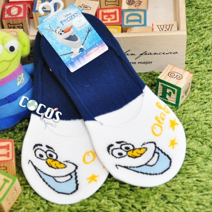 正版授權迪士尼襪子冰雪奇緣雪寶防滑短襪船型襪踝襪止滑隱形襪COCOS JD040
