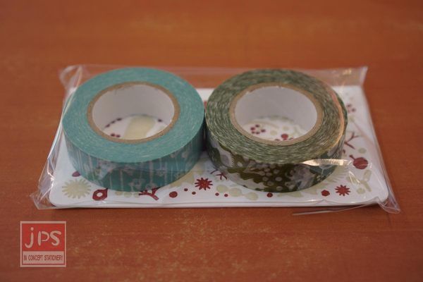 日本倉敷意匠和紙膠帶-松鼠森林小花15mm兩卷入綠色E款