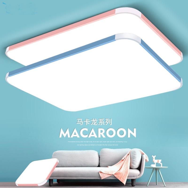 方形LED吸頂燈具主臥室燈飾餐廳兒童房書房房間玄關照明現代簡約TW