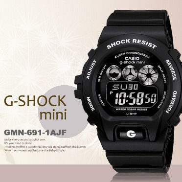 g-shock mini秒殺款gmn-691-1ajf日限g-shock現貨排單熱賣中