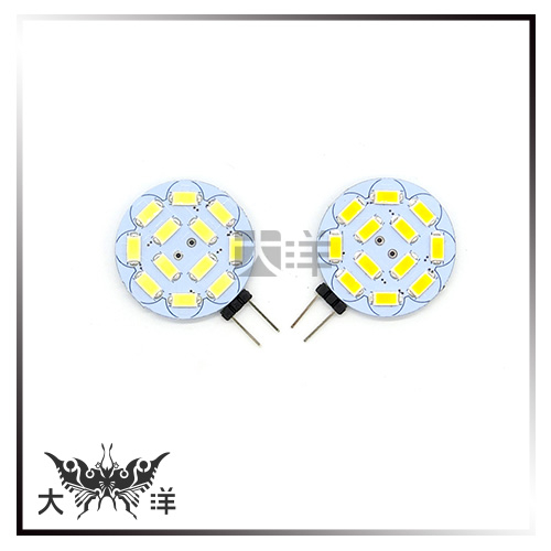 ◤大洋國際電子◢ G4-5730-12LED-30mm圓板燈DC12V(白/暖白) 吊燈 水晶燈 室內燈 1180B