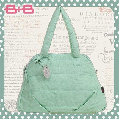 時尚純靜媽媽包-綠尿布墊保溫袋大空間肩揹側背媽咪包HAPPY B B E-B-95158-G