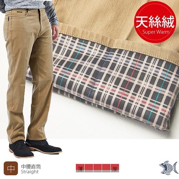 【NST Jeans】保暖主打_ 秋冬駝色 內裏天絲絨休閒男褲(中腰) 397(66555) 台製 紳士 保暖