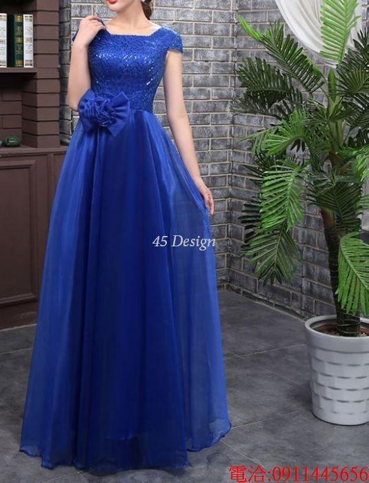 (45 Design)  7天到貨 長禮服伴娘禮服 結婚晚禮服姐妹裙長版禮服 韓式 洋裝 新娘敬酒服 連身裙5