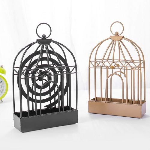 創意多功能金屬鳥籠蚊香架 蚊香盤