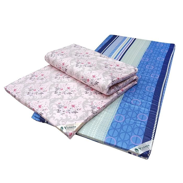【Victoria】單人天然乳膠床墊-4公分(花色依每批生產隨機出貨)_TRP多利寶