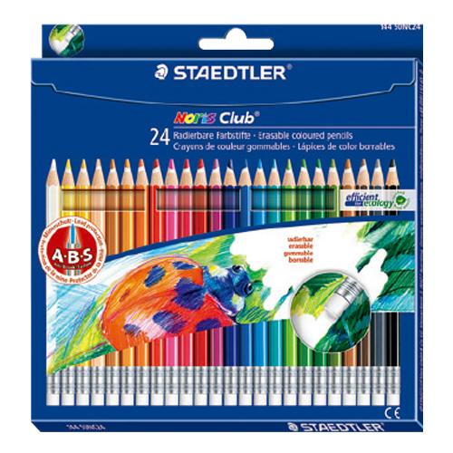 STAEDTLER施德樓MS14450NC24可擦拭色鉛筆