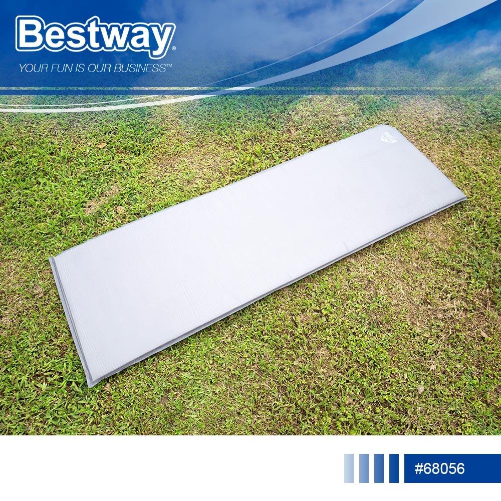 捷運新埔站*Bestway 68056單人自動充氣睡墊.露營必備超彈性自動充氣床墊防潮睡墊瑜珈墊