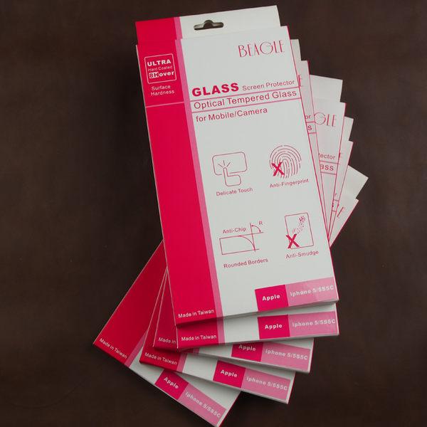 (BEAGLE) 鋼化玻璃螢幕保護貼 iphone5/5S/5C/SE 專用-可觸控-抗指紋油汙-耐刮硬度9H-防爆-台灣製
