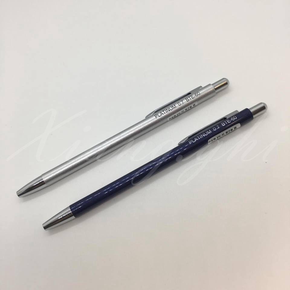白金牌Paltinum-原子筆-按壓式迷你筆-藍/銀