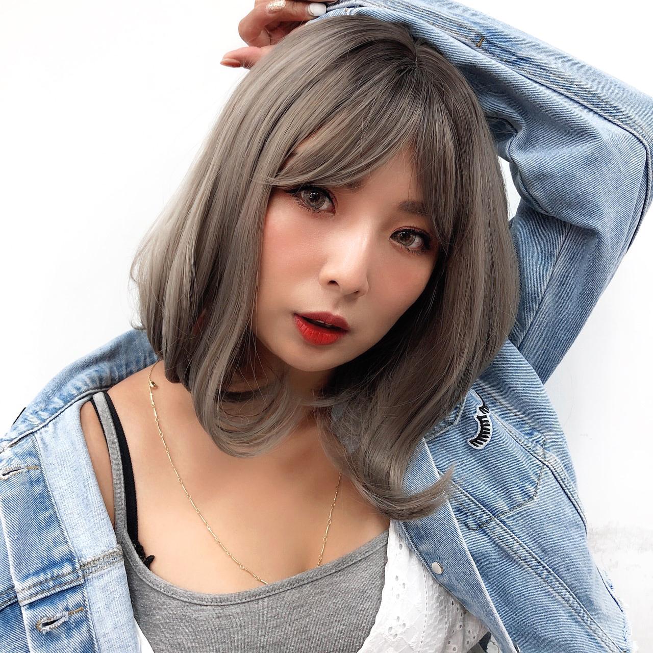全頂假髮 灰色短髮 時尚髮色 魔髮樂 S8032R