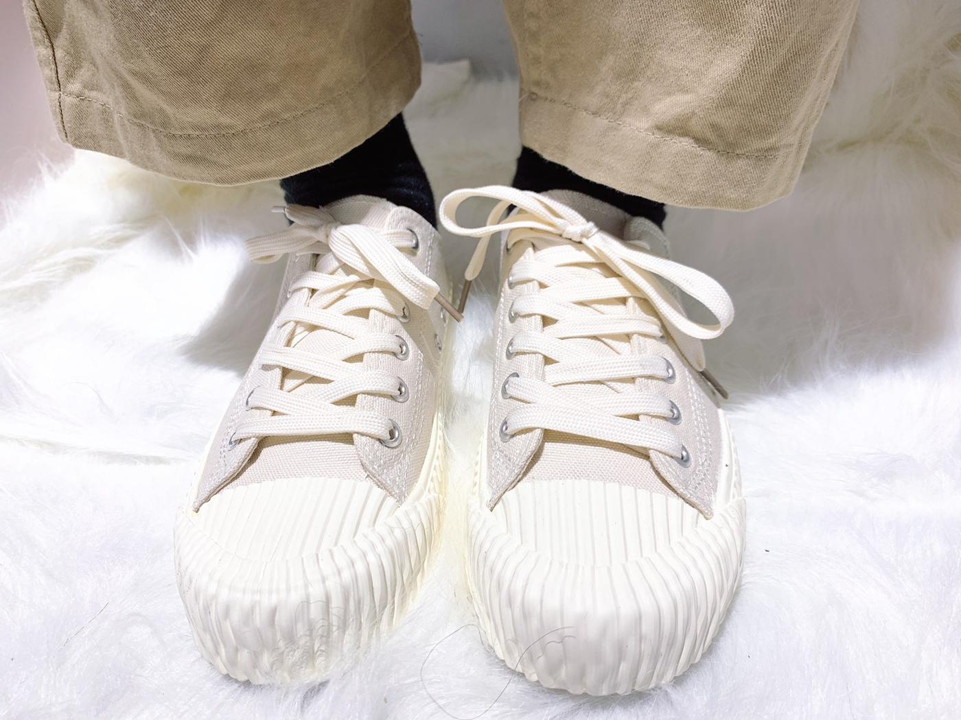 X-INGCHI. 女餅乾頭布鞋 米白 NO. X0017