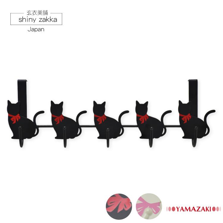金屬掛勾-平光漆塗裝-貓咪橫排掛勾-療癒實用日本居家雜貨-玄衣美舖